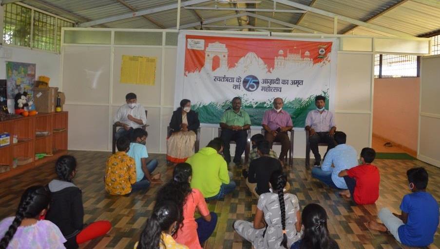 Commemoration of 'Azadi Ka Amrith Mahotsav' at SAIL-VISL through Elocution Competition
